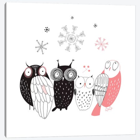 Owl Line-Up Canvas Print #GPH78} by GraphINC Canvas Print