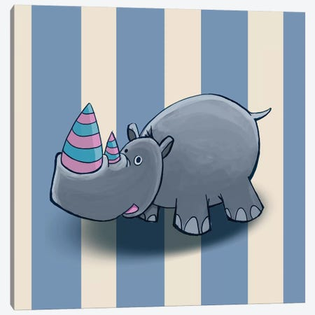 Rhino Canvas Print #GPH82} by GraphINC Canvas Art