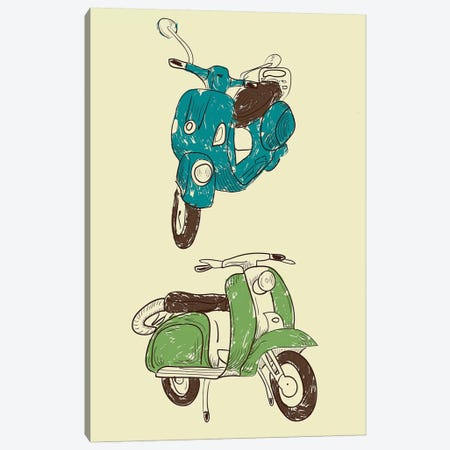 Scooter I 3-Piece Canvas #GPH85} by GraphINC Canvas Print
