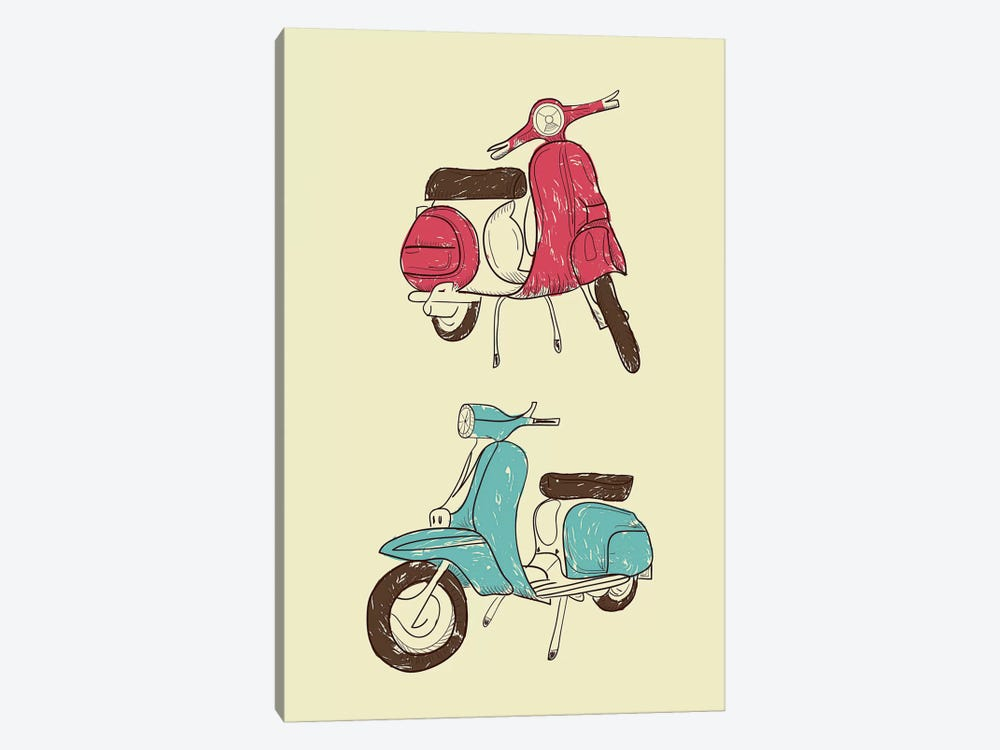 Scooter II by GraphINC 1-piece Canvas Art