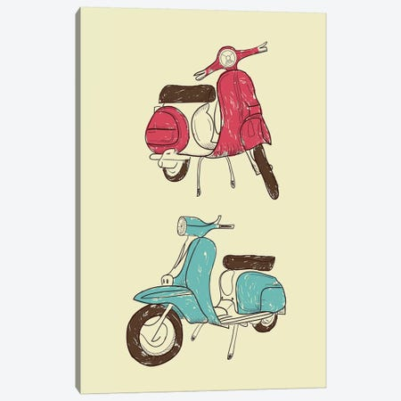 Scooter II 3-Piece Canvas #GPH86} by GraphINC Canvas Print