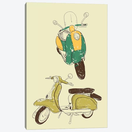 Scooter III Canvas Print #GPH87} by GraphINC Canvas Print