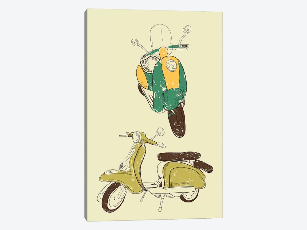 Scooter III by GraphINC 1-piece Art Print