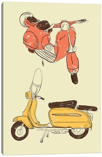 Scooter IV Canvas Art Print