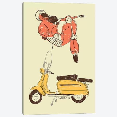 Scooter IV 3-Piece Canvas #GPH88} by GraphINC Canvas Wall Art