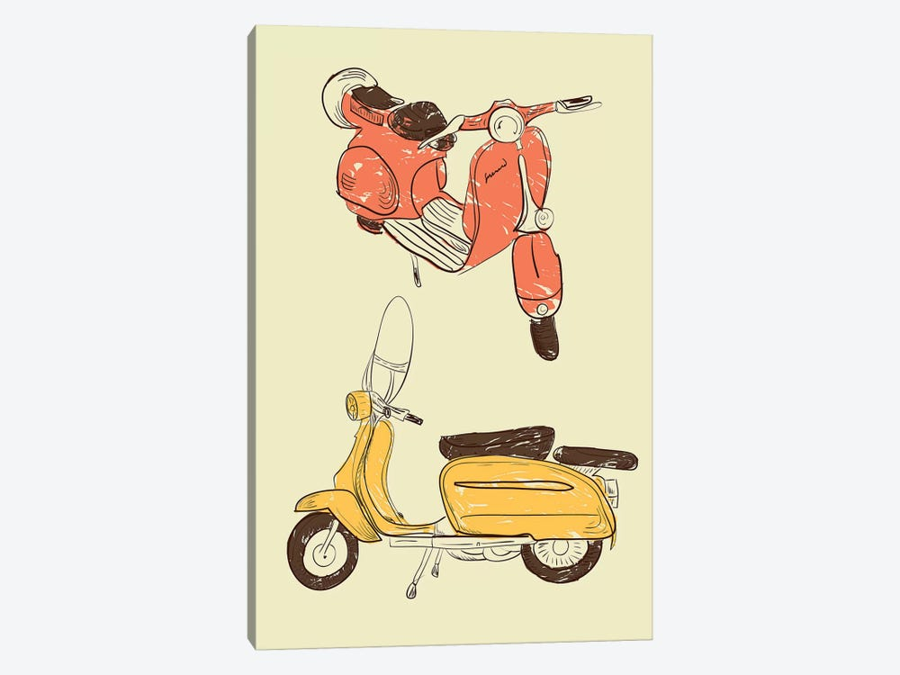 Scooter IV by GraphINC 1-piece Canvas Wall Art