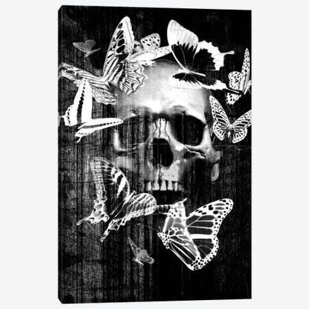 Skull Butterfly Crown Canvas Print #GPH89} by GraphINC Canvas Wall Art