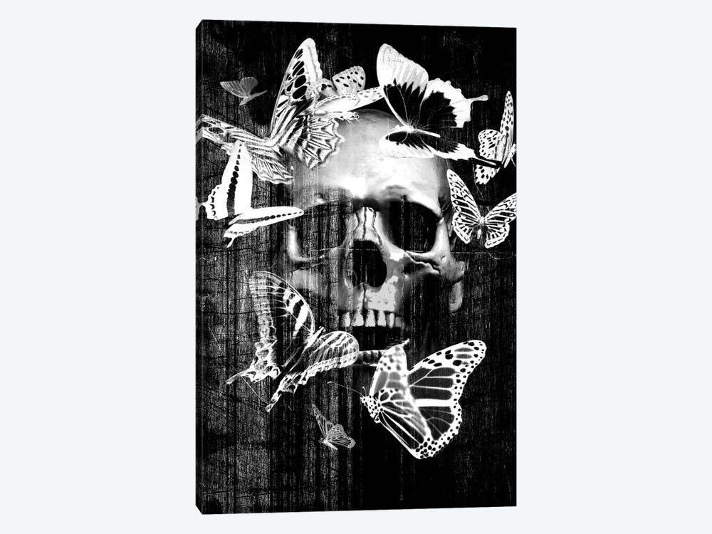Skull Butterfly Crown by GraphINC 1-piece Canvas Print