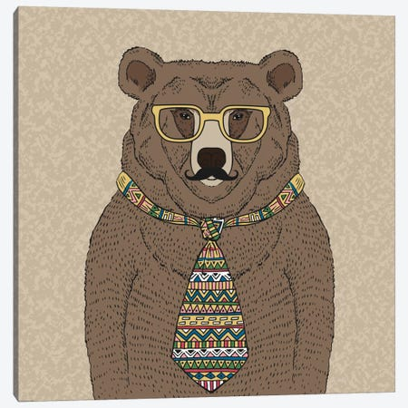 Bear-Man Canvas Print #GPH8} by GraphINC Canvas Artwork