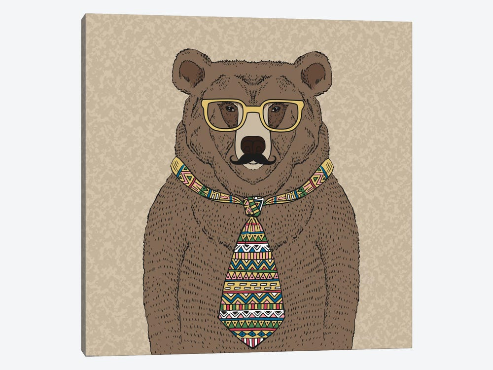 Bear-Man by GraphINC 1-piece Canvas Art