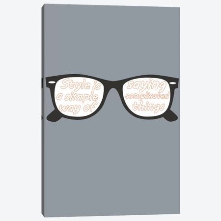 Style Glasses Canvas Print #GPH92} by GraphINC Art Print