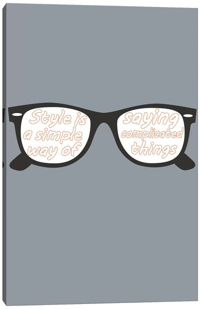 Style Glasses Canvas Art Print