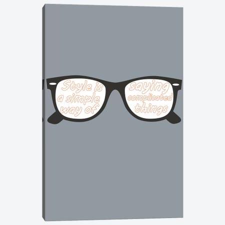 Style Glasses Canvas Print #GPH92} by GraphINC Art Print