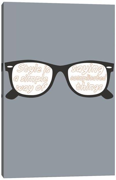 Style Glasses Canvas Art Print