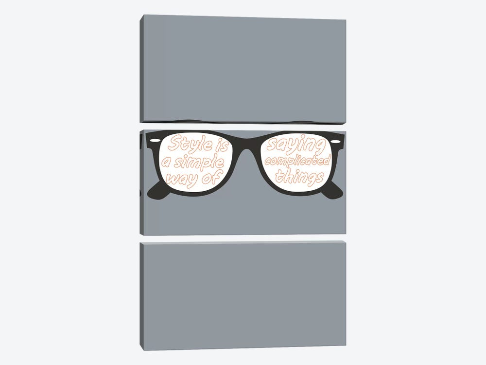 Style Glasses by GraphINC 3-piece Canvas Print