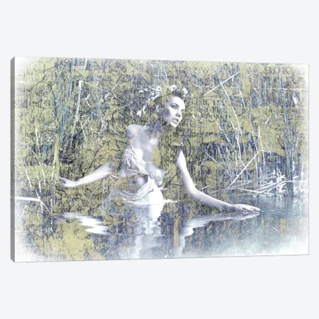 Swan Lake Canvas Print #GPH93} by GraphINC Art Print