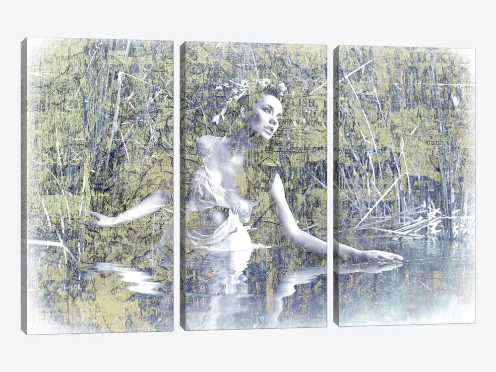 Swan Lake by GraphINC 3-piece Canvas Art