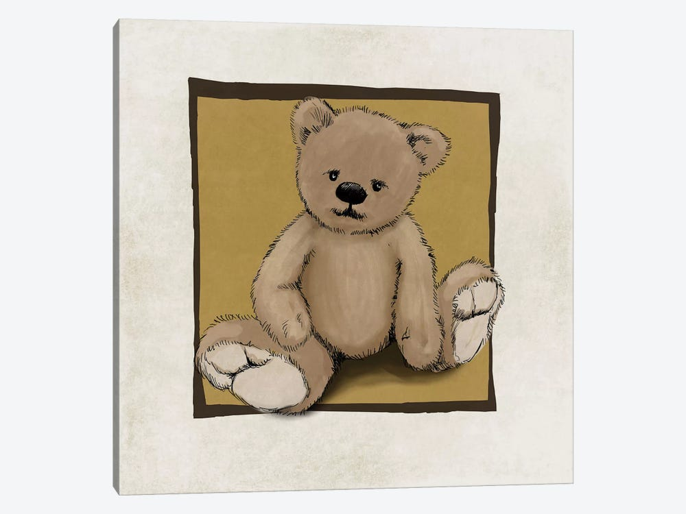 Teddy Bear by GraphINC 1-piece Canvas Art Print