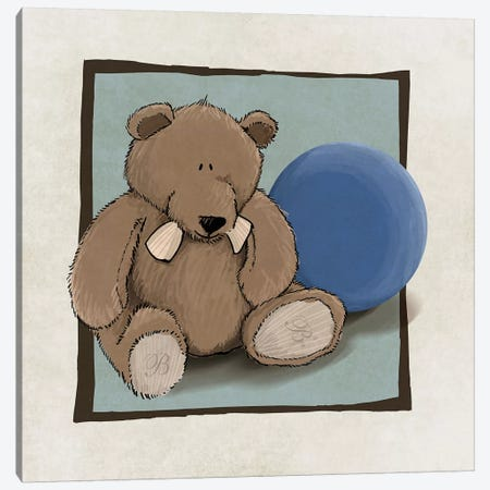 Teddy Bear And Ball Canvas Print #GPH95} by GraphINC Canvas Artwork