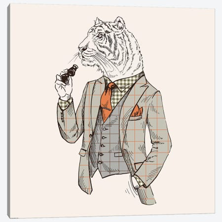 Tiger-Man Canvas Print #GPH97} by GraphINC Canvas Art