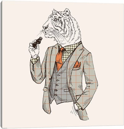 Tiger-Man Canvas Art Print