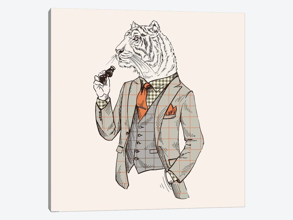 Tiger-Man by GraphINC 1-piece Canvas Artwork