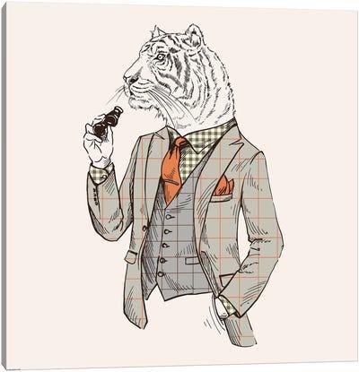 Tiger-Man Canvas Art Print