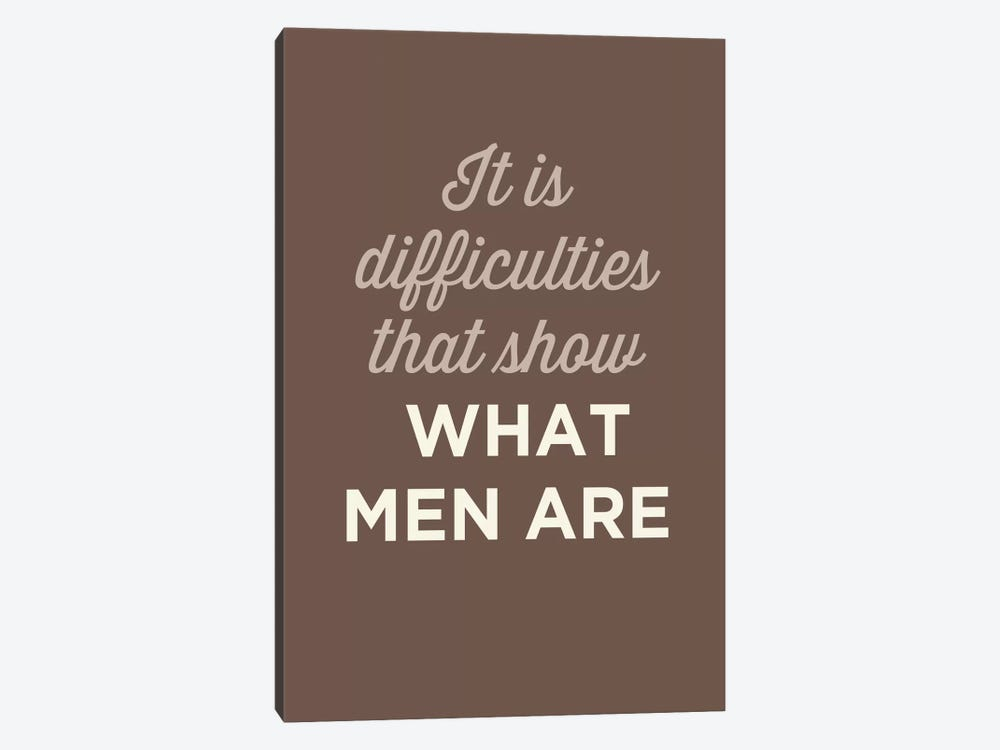 What Men Are by GraphINC 1-piece Canvas Art Print