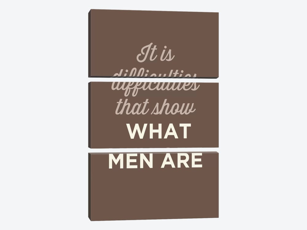 What Men Are by GraphINC 3-piece Canvas Art Print