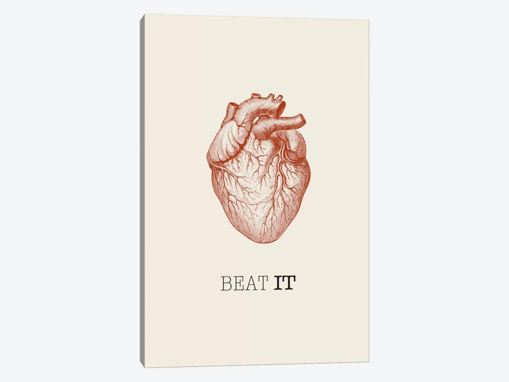 Beat It by GraphINC 1-piece Canvas Art Print
