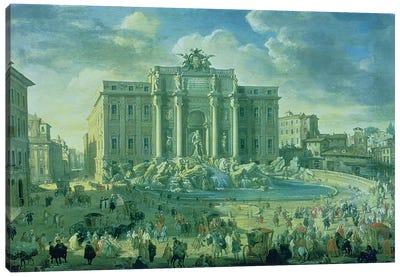 The Trevi Fountain in Rome, 1753-56  Canvas Art Print