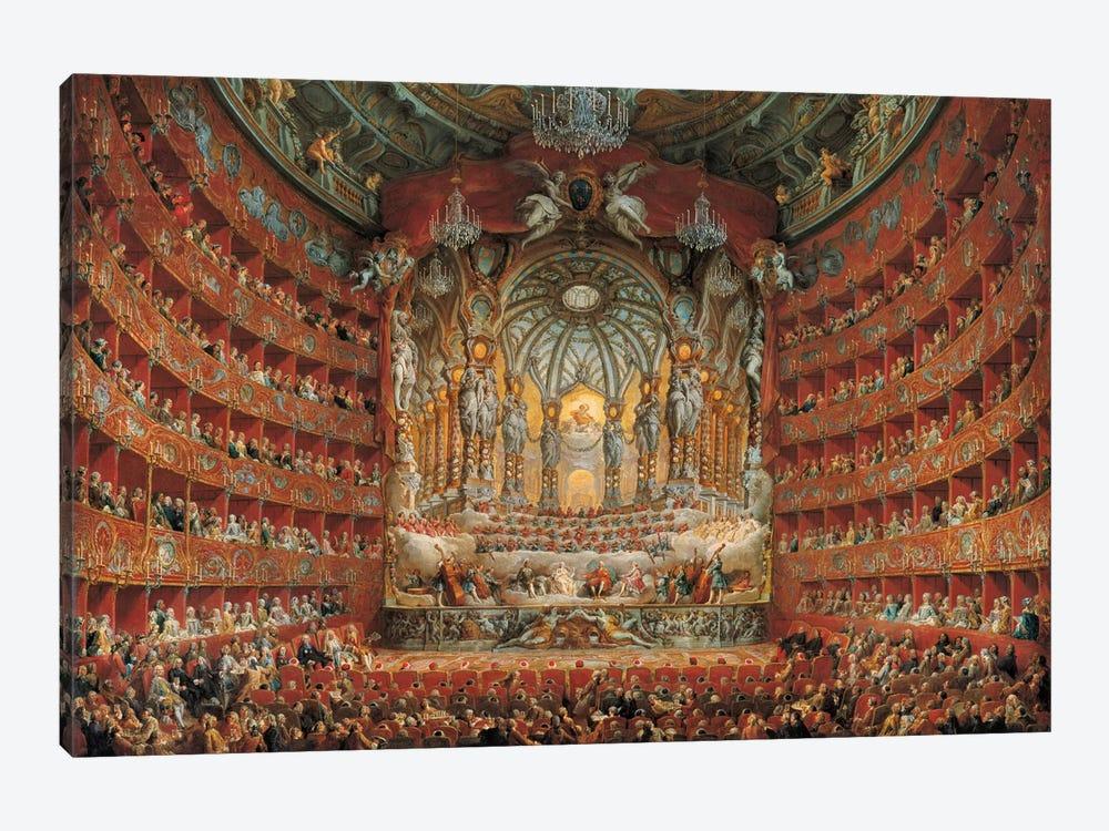 Festa In Teatro A Roma by Giovanni Paolo Panini 1-piece Canvas Art Print