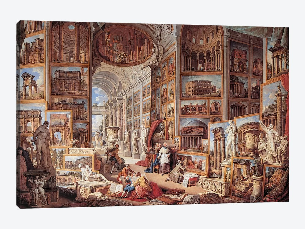 Vedute Di Roma Antica by Giovanni Paolo Panini 1-piece Canvas Artwork
