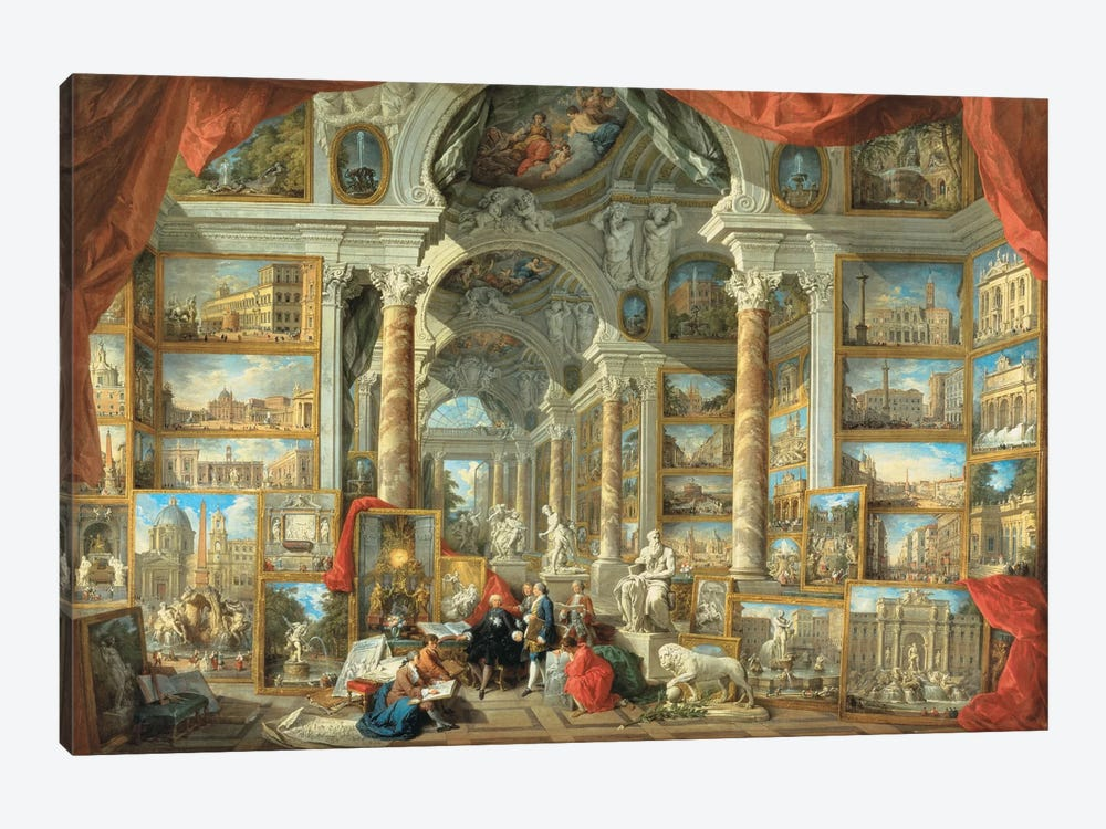 Vedute Di Roma Moderna Giclee by Giovanni Paolo Panini 1-piece Canvas Print