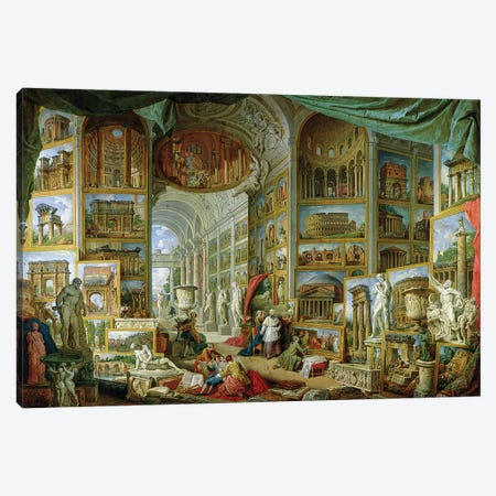 Gallery of Views of Ancient Rome, 1758  Canvas Print #GPP4} by Giovanni Paolo Panini Canvas Artwork