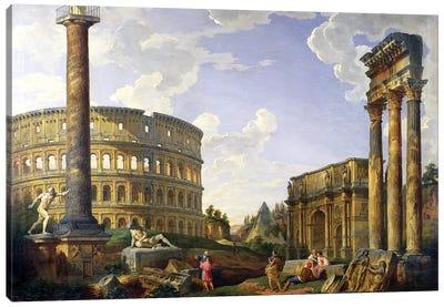 Roman Capriccio (Ruins With Colosseum)  Canvas Art Print