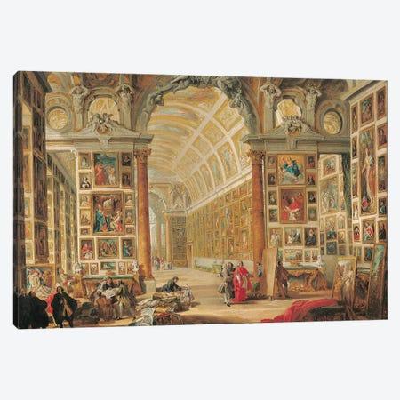 The Gallery of Cardinal Silvio Valenti-Gonzaga in Rome, 1749  Canvas Print #GPP8} by Giovanni Paolo Panini Canvas Art Print