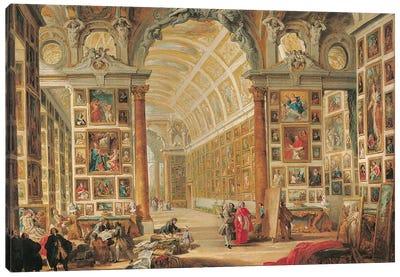 The Gallery of Cardinal Silvio Valenti-Gonzaga in Rome, 1749  Canvas Art Print