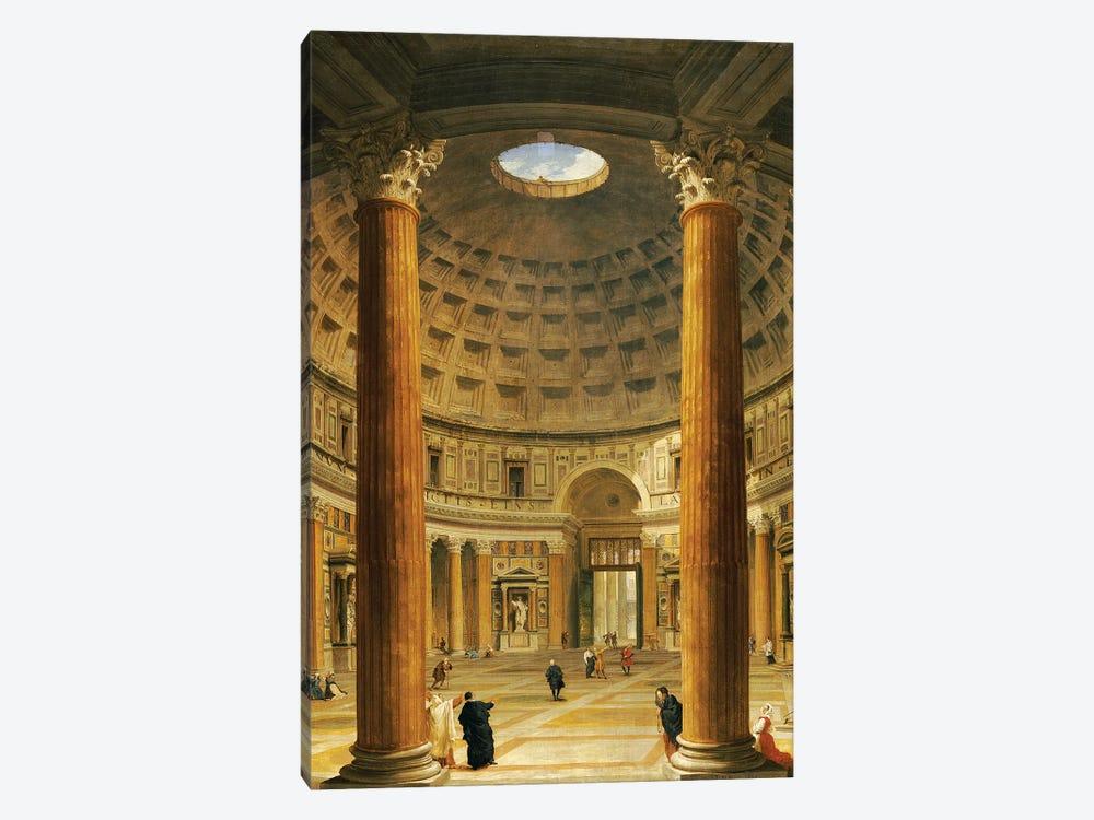 Giovanni Pauolo Panini Fantasy the Pantheon and Ancient Rome Vintage Art Print