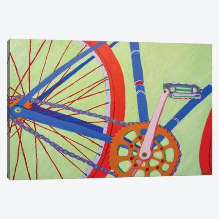 Blue Bike Canvas Print #GRA13} by Sue Graef Canvas Print