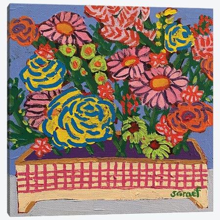 Flowers In Box Canvas Print #GRA26} by Sue Graef Canvas Print