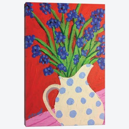 Flowers In Pitcher Canvas Print #GRA27} by Sue Graef Canvas Print