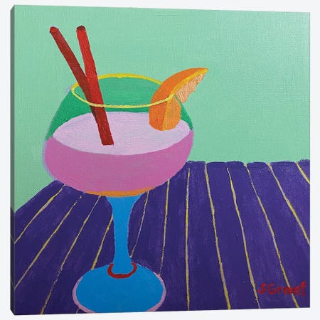 Pretty Drink III Canvas Print #GRA38} by Sue Graef Canvas Art Print