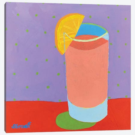 Pretty Drink IV Canvas Print #GRA39} by Sue Graef Canvas Art Print
