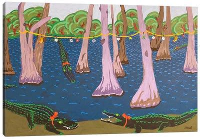 Bayou Holiday Fantasy Canvas Art Print