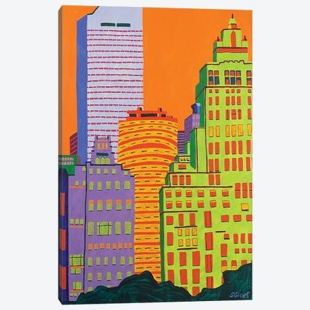 Mid Town Canvas Print #GRA69} by Sue Graef Canvas Art