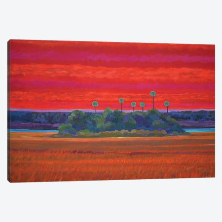 Open Heart Sunset  Canvas Print #GRB32} by Gary Borse Canvas Artwork