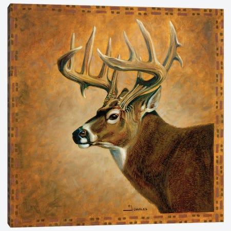 Shadow Beasts Deer Profile Canvas Print #GRC103} by J. Charles Canvas Wall Art