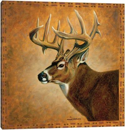Shadow Beasts Deer Profile Canvas Art Print
