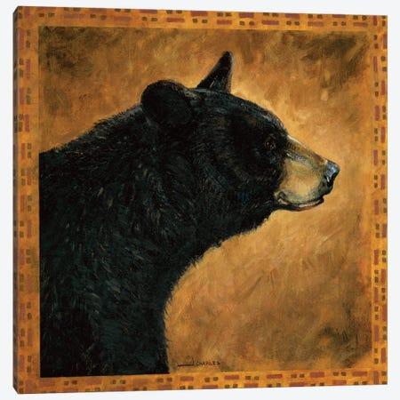 Shadow Beasts Black Bear Profile Canvas Print #GRC105} by J. Charles Art Print